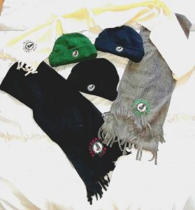 MM CLub hats and scarves