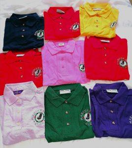 MM CLub polo shirt colour range