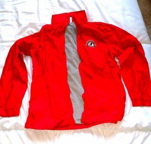 MM Club waterproof jacket red