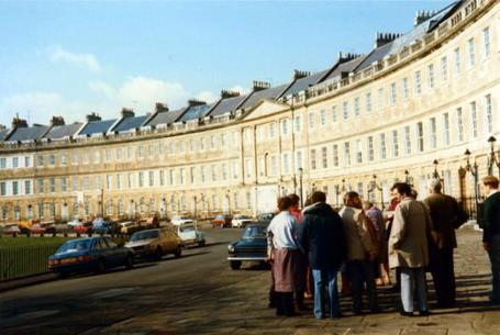 Bath 1996 - Members on The Crescent