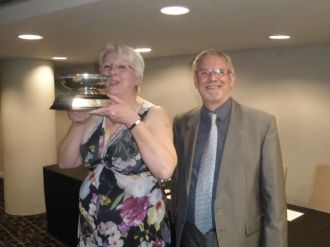 Birmingham - 2018 Double winner Kathryn Johson with Magnum runner up David Edwards