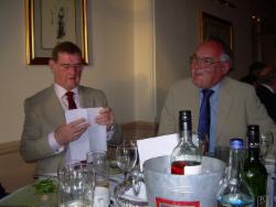 Sheffield 2011 - Mugnum winner Mel Kinsey checks his answers as Stewart Cross looks on